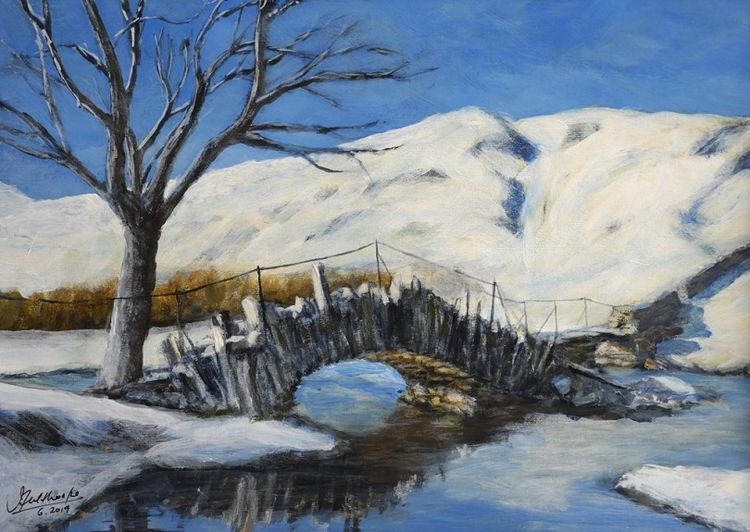 Slater's Bridge by John Fulthorpe -acrylic
