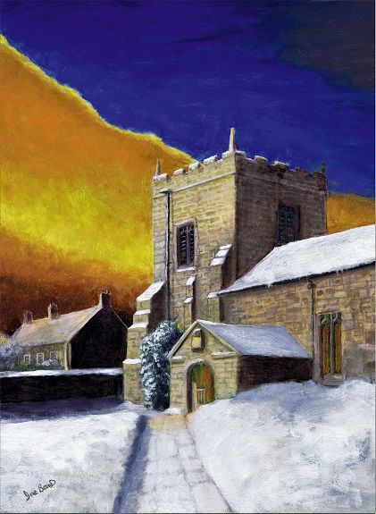 Carol Service -oil on poplar- by Joe Beard