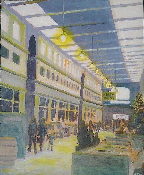 Allan White, Alley No. 1, Grainger Market -acrylic