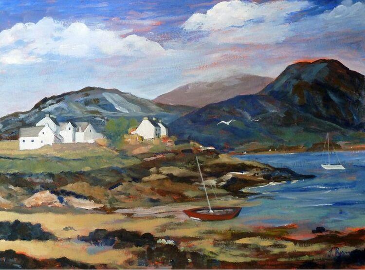 Jenny Dyson, Plockton in the Highlands -mixed media