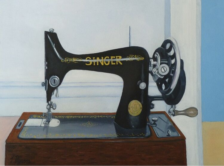 Jenny Dyson, Singer Sewing Machine -mixed media
