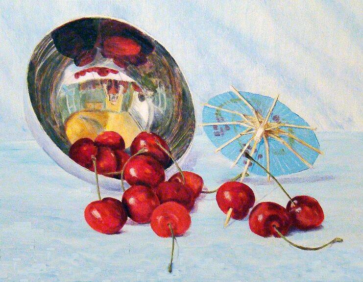 Joe Beard, Cherry Spill -Oil on panel