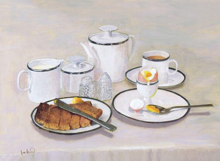'Breakfast' -Oil On Poplar Panel by Joe Beard