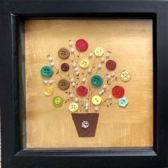 Sheila Lewis, Floral Buttons