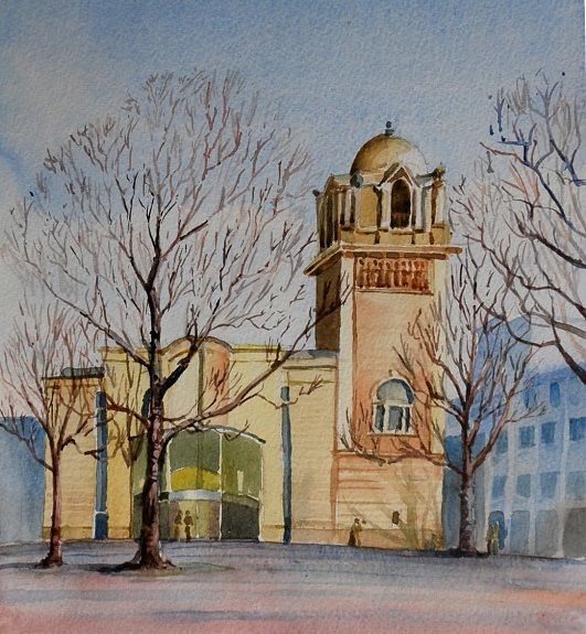 Willie Drea, The Laing Art Gallery -watercolour