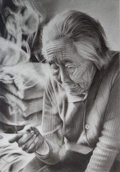 Grandma Smokingl by Doug Stevenson