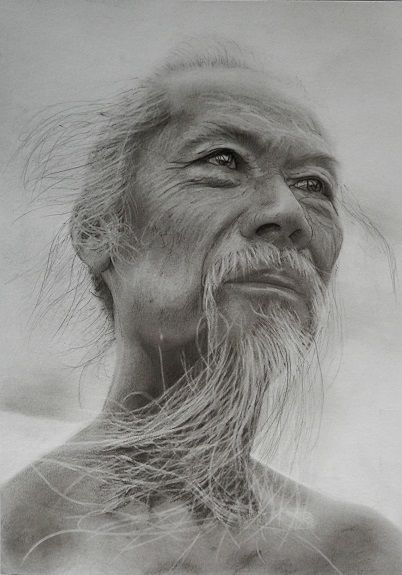 Doug Stevenson, Heroic Chinese -charcoal