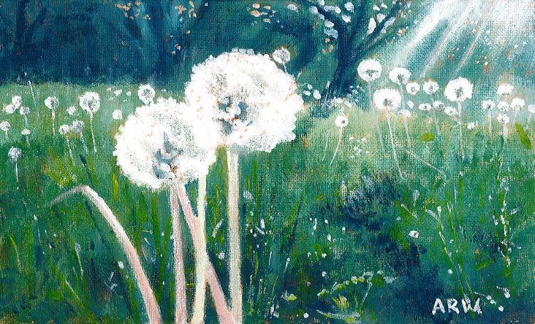 Dandelions by Allan White, -acrylic