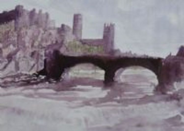 Durham Cathedral by Pat Thompson -watercolour