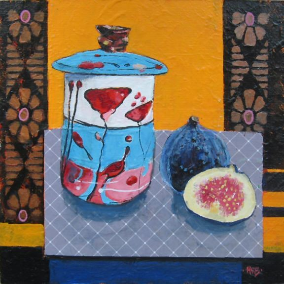 Harry Bell, Flower Jar and Figs