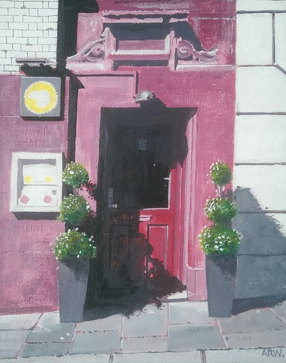 Dabawal, High Bridge St Door acrylic by Allan White