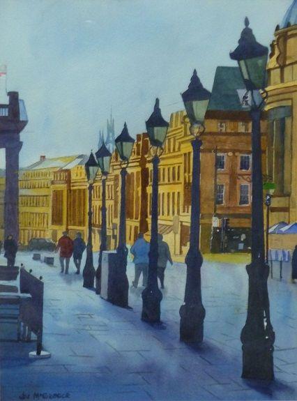 Grey Street by Joe McGregor -watercolour 40cmx30cm