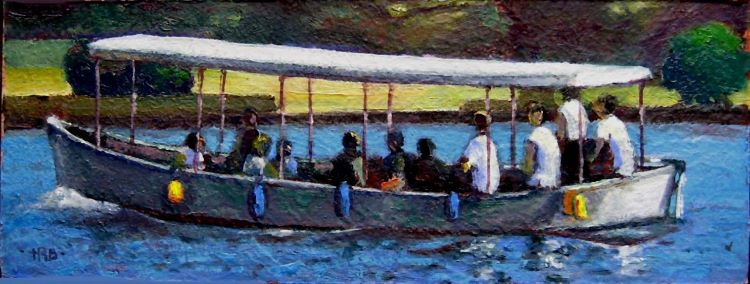Boat at Trogir by Harry Bell, -acrylic