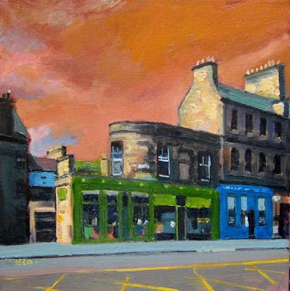 Chambers Street, Edinburgh by Harry Bell, -acrylic
