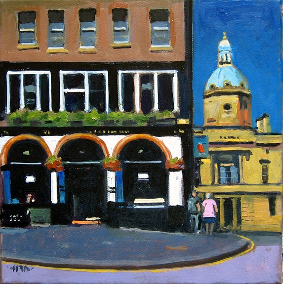 Deacon Brodies Tavern by Harry Bell, -acrylic