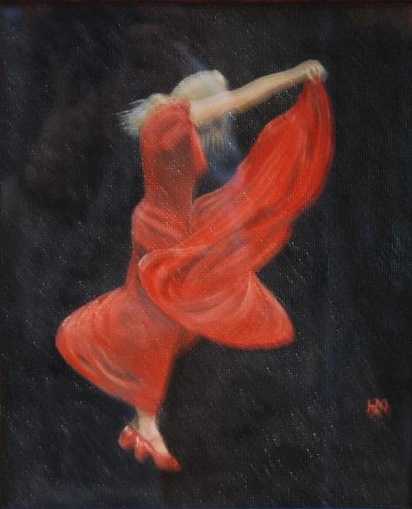 70 -Flamenco by Harry Matthews, -oil
