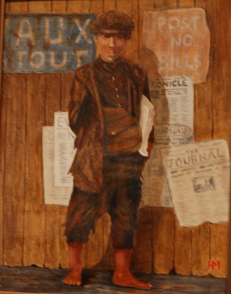 71- The Paper Lad by Harry Matthews, -oil