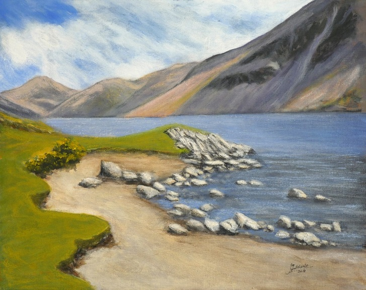 14 -Wastwater by John Fulthorpe. -mixed media