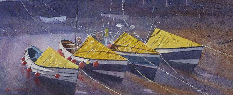 Four Amble Boats by Joe McGregor.