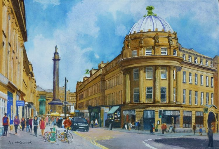 30 -Grainger Street by Joe McGregor. -mixed media