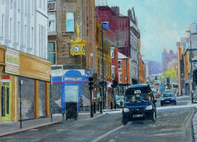 24 -Westgate Hill. by Joe McGregor -pastel 40cm x30