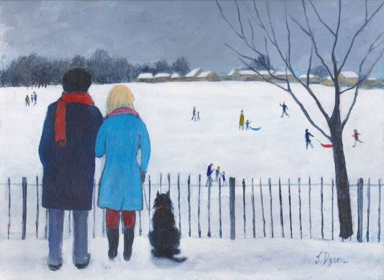 Jenny Dyson 'People in the Snow '