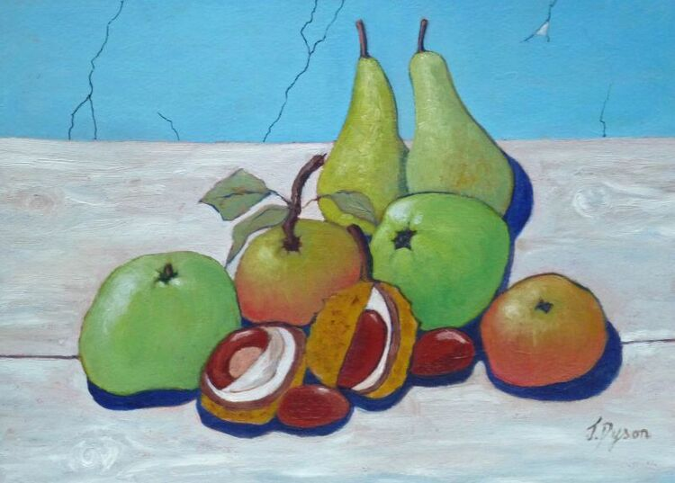 Jenny Dyson, Still Life with Pears