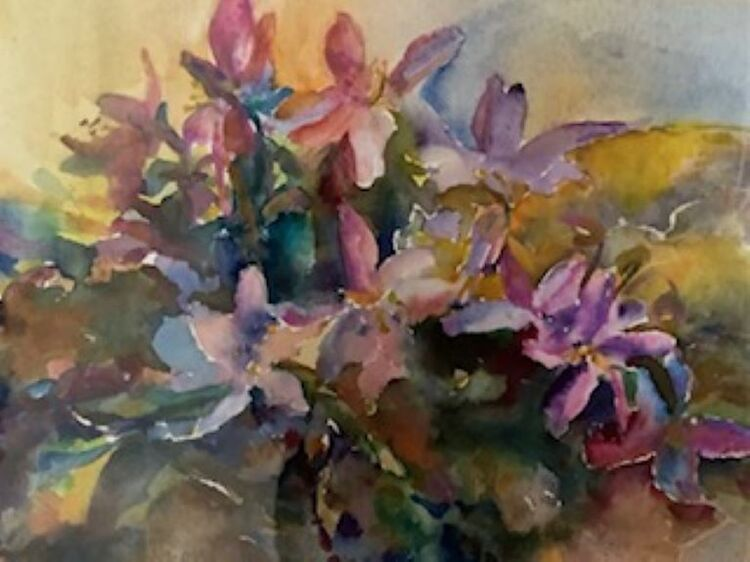 Karen Stott ' African Violets '