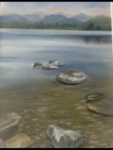 Wastwater by Margaret Richardson. -pastel