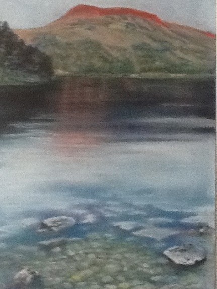Lake District by Margaret Richardson. -pastel