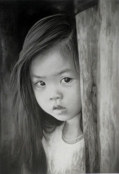 Curious by Doug Stevenson -charcoal