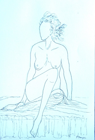 Nude 1 by Pat Thompson. -ink