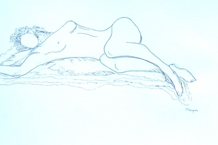 Nude 2 by Pat Thompson -ink