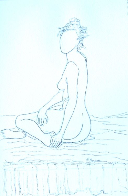 Nude 3 by Pat Thompson. -ink