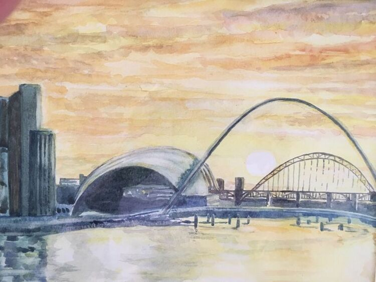 2 Pat Thompson, Sunset on the River Tyne