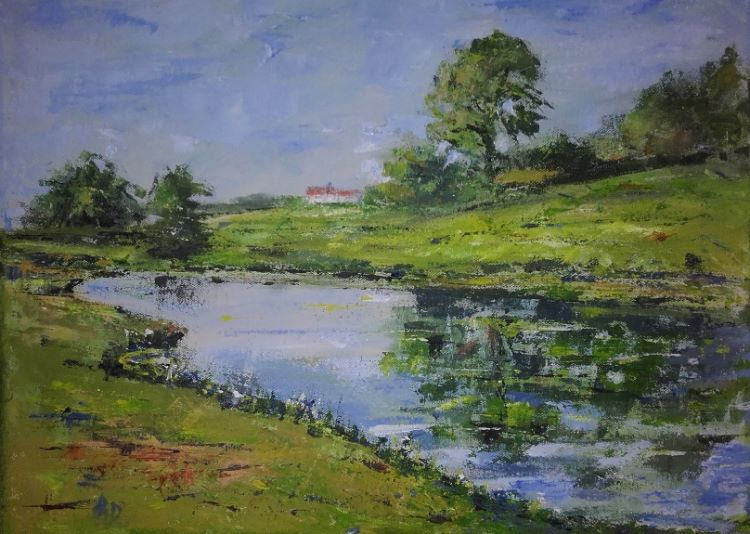 A Summer's Day, -acrylic by Audrey Dtrynan