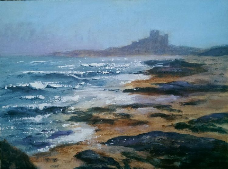 Incoming Tide at Bamburgh by Audrey Drynan