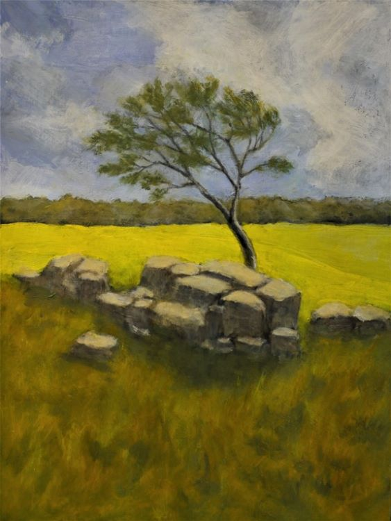 Remains of the Wall by John Fulthorpe -acrylic