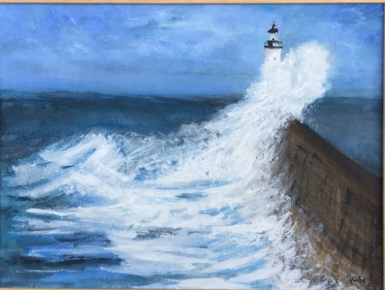 Seaburn Lighthouse by Julie Manning