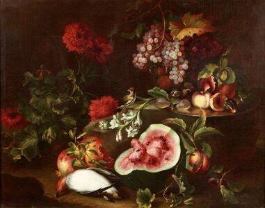 Michelangelo di Campidoglio, 'Fruit, Flowers and Birds'