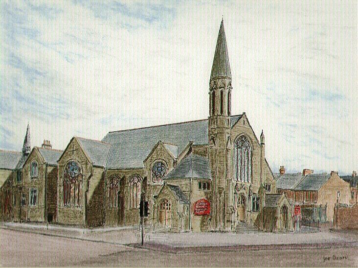 St Mark's, Gateshead Pastel and Pen by Joe Beard