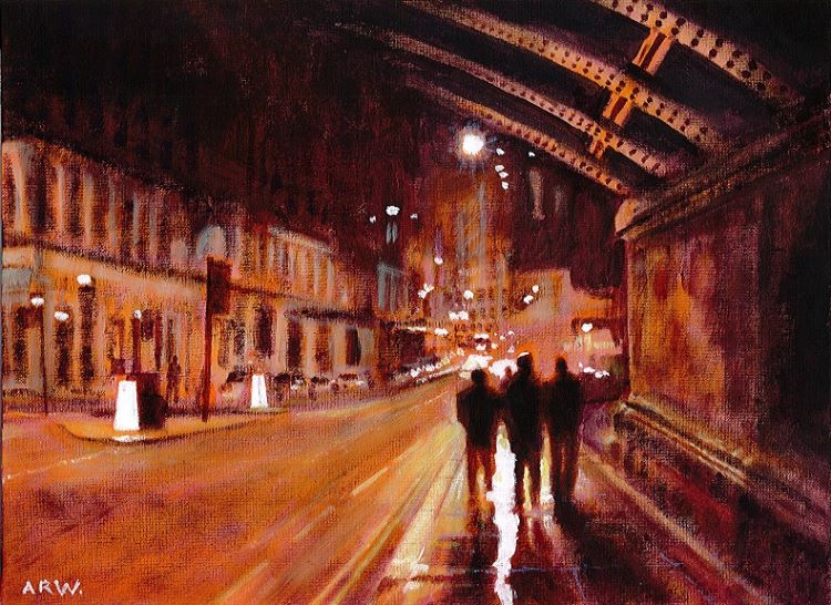 St Nicholas Street, acrylic by Allan White