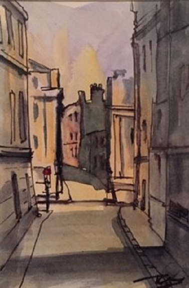 38 -High Bridge Street by Tim Griffiths, -watercolour