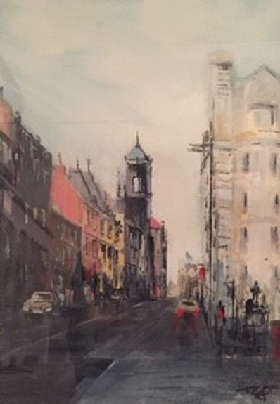 Westgate Road by Tim Griffiths, -watercolour