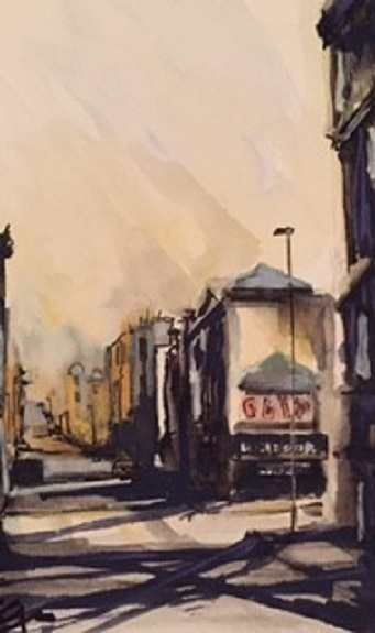 Westgate Road 2 by Tim Griffiths, -watercolour