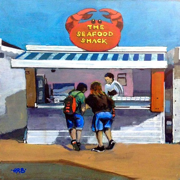 The Seafood Shack, acrylic by Harry Bell