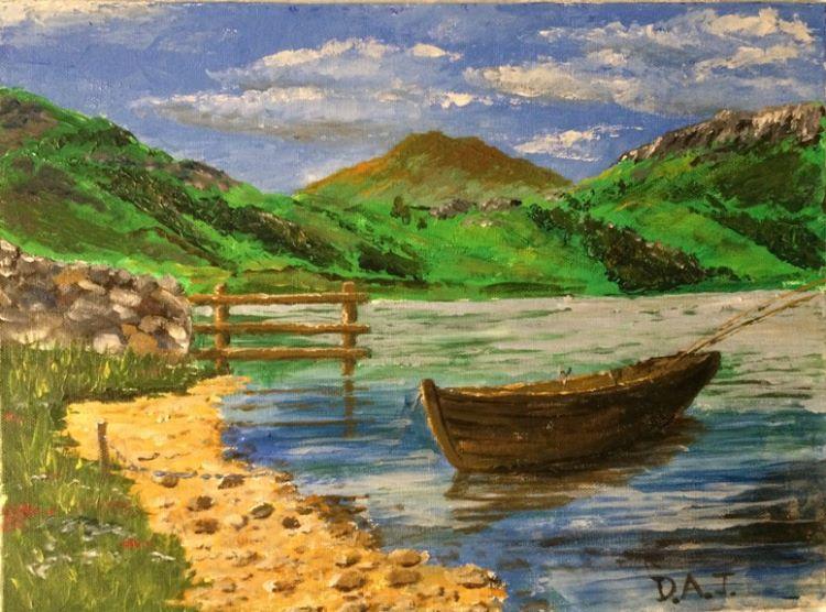 Watendlath, watercolour by Dougie Johnston
