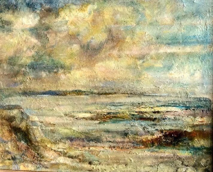 Waters Edge Northumberland -oil by Karen Stott