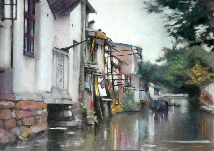 Wuzhen Homes By the River, by Doug Stevenson