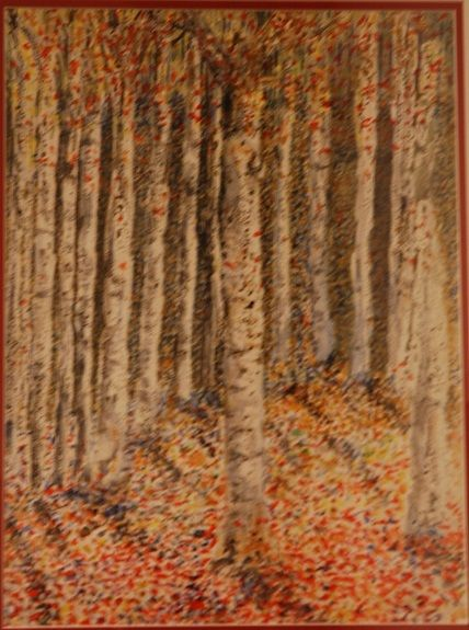 9 Autumn Leaves watercolour by Pat Thompson